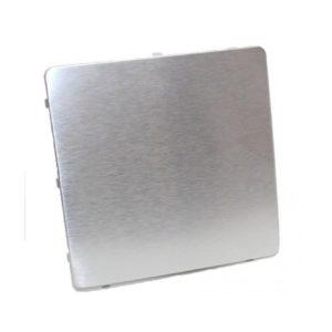 Dekorplate Børstet aluminium