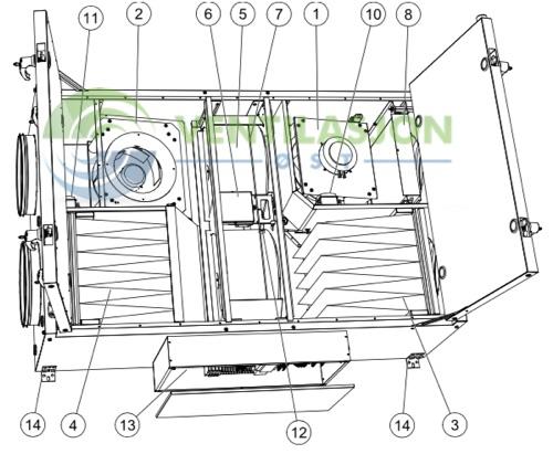 Topvex FR03 FR06 FR08 11 Filterbytte Bilde 1