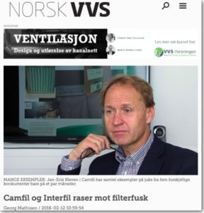 Camfil og Interfil raser mot uorginale filter - Norsk VVS forum