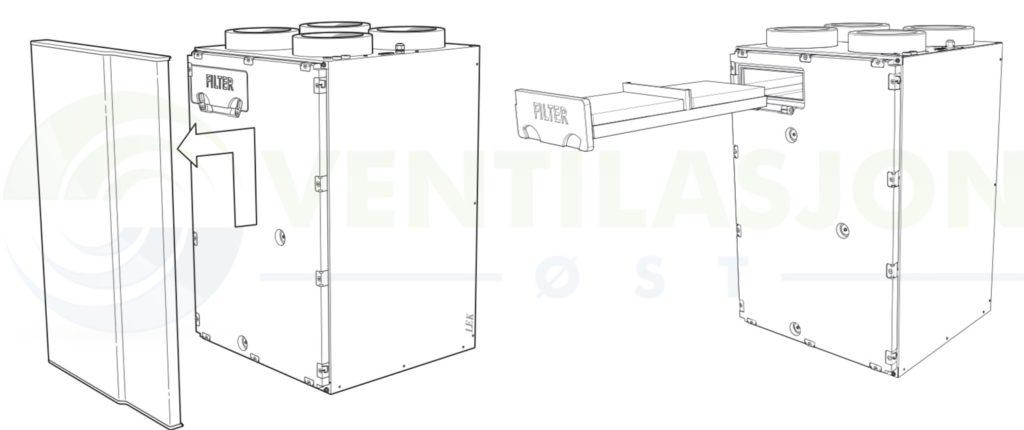 Filterbytte Nibe ERS 10-400 og 10-500