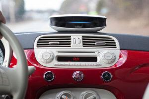 Purashield i bil på dashbord